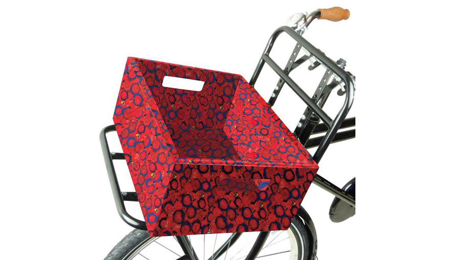 bicycle basket made from plastic waste